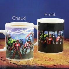 Mug Thermoréactif Personnages Marvel. Kas Design, distributeurs de produits originaux