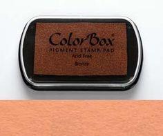 Stempelkissen ColorBox Bronze bronzefarben von frau zwerg auf DaWanda.com