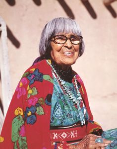 Maria Martinez (1887, San Ildefonso Pueblo, New Mexico – July 20, 1980, San Ildefonso Pueblo) was a Native American artist who created internationally known pottery. Martinez, her husband Julian, and other family members examined traditional Pueblo pottery styles and techniques to create pieces which reflect the Pueblo people's legacy of fine artwork and crafts.