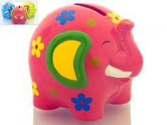 Hucha Infantil elefante de ceramica para detalle regalo niños y niñas #Grandetalles