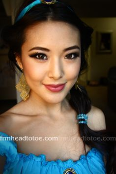 Princess Jasmine Makeup Makeupmaniac Halloween Princess Jasmine Makeup And Hair All Things