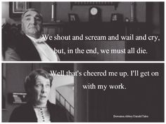 Carson and Mrs. Hughes -  Downton Abbey