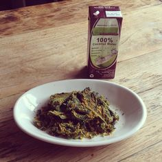Kale chips with cocos water!!! Yummy!!