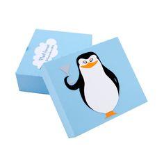 Marturie Botez Madagascar - The Penguins Baby Shower Favors, Baby Shower Invitations, Penguins Of Madagascar, Creative Art, Place Cards, Logos, Handmade Baby, Babyshower, Design