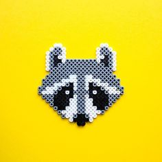 Racoon hama perler beads by Little Miss Productive