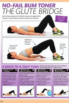 Toning glute and stomach