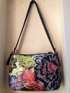 Hand Painted Purse Gardens of the Galaxy by Scheibershop on Etsy