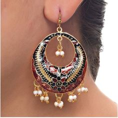Want to try cool and funky earrings this #summer. Try this Maroon Black Rajasthani Meenakari Designer Earring. Order it now online from Lucky jewellery  at Rs. 255/- This summer look stunning with this elegant earrings. #jewelry #wedding #fashion http://ift.tt/248WnGd