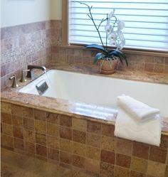granite tub surround, granite tub desk