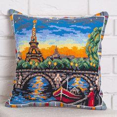Набор для вышивания Panna ПД-1736 Подушка Прогулка вдоль Сены