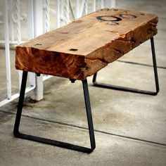 The Cogg. Love the rustic look of this bench! This website has awesome creations made from reclaimed items.