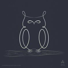 Bestiario Lineare #4: Owl by andreaaustoni.deviantart.com on @deviantART