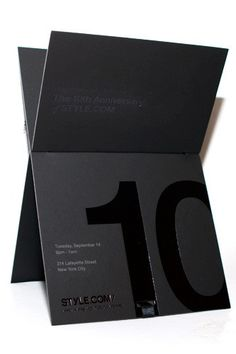 The 12 Coolest Fashion Week Invites  #refinery29  http://www.refinery29.com/11161#slide-11  Style.com:  Geometric. Bold. Dark. And very, very sexy. What else would you expect after 10 years of style? ...