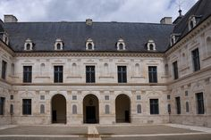 "05- Fountainebleau; courtyard view of Chateau of Ancy-le-Franc, Burgundy, (1544-1550), by Serlio. ""Serlio principal building in France is the Château of Ancy-le-Franc in Burgundy (c. 1541-50)."
