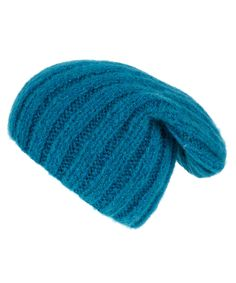 Grevi Turquoise Chunky Knit Beanie Hat | Hats by Grevi | Liberty.co.uk