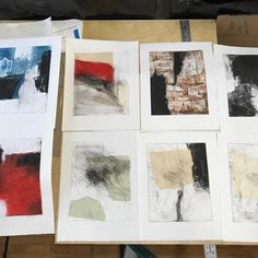 Prints I made in the Chicago studio of Jeff Hirst last week. #printmaking #monotype #worksonpaper #abstraction