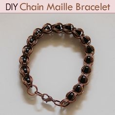 Chain Maille Bracelet Tutorial 3 - does this look masculine enough to give to a guy? jump rings: http://www.ecrafty.com/c-201-jump-rings-split-rings.aspx