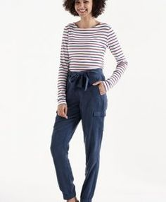 Long Tall Sally - Long Sleeve Two Color Breton Top Formal Tops, Casual Tops, Breton Top, Wardrobe Solutions, Long Tall Sally, Tall Women, Trousers, Clothes For Women, My Style