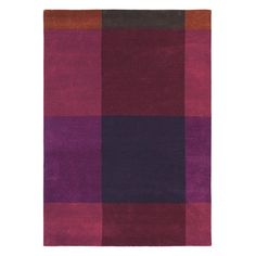 Plaid Rugs 57805 by Ted Baker in Burgundy