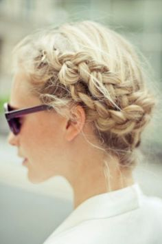 braid crown holiday party hairstyle