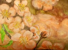 CEREZOS EN FLOR Painting, Art, Flower, Water Colors, Paintings, Cherry Tree, Projects, Art Background, Painting Art