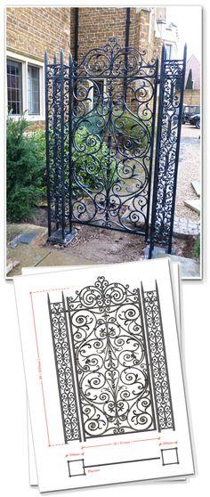 Lowesby Pedestrian Gate - Peter Weldon Iron Designs Ltd