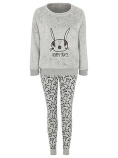 Fleece Bunny Pyjama Set, read reviews and buy online at George. Shop from our latest range in Women. Feel as cosy as can be with this fleece bunny pyjama set...