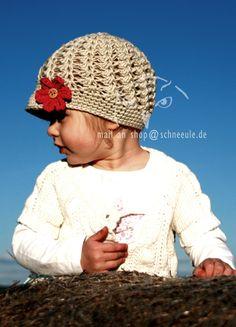 crochet hat for girls, Mütze gehäkelt für Mädchen, Übergangsmütze