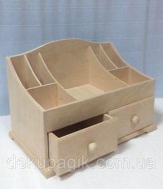 Woodworking Projects Diy, Diy Wood Projects, Wood Crafts, Make Up Storage, Art Storage, Easy Diys For Kids, Wooden Organizer, Diy Cardboard, Craft Box
