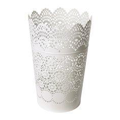 SKURAR Lantern for block candle IKEA The warm light from the candle shines decoratively through the lace pattern on the lantern.