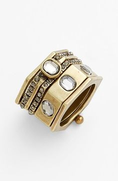 Free shipping and returns on Rebecca Minkoff Stack Ring at Nordstrom.com. A geometric stacked-look ring sparkles with crystal inlays.