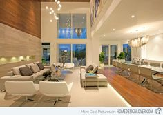 A Modern Miami Home - modern - living room - miami - DKOR Interiors Inc.- Interior Designers Miami, FL Love the open spaces Luxury Living Room, Modern Home Interior Design, Miami Houses, Luxury Living, Long Living Room, Contemporary House, Residential Interior Design, Living Room Design Modern, Residential Interior