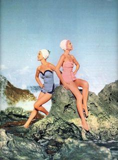 Swimwear for Seventeenmagazine, May 1954.
