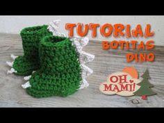 Crochet Dinosaur Hat, Crochet Dinosaur Patterns, Crochet Cow, Crochet Toddler, Crochet Shoes, Crochet Slippers, Crochet For Kids, Crochet Clothes, Crochet Patterns