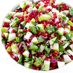 5-Ingredient Pear Pomegranate Salsa