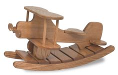Introduce the youngster in your life to more simple times by gifting them our Wooden Airplane Rocker.