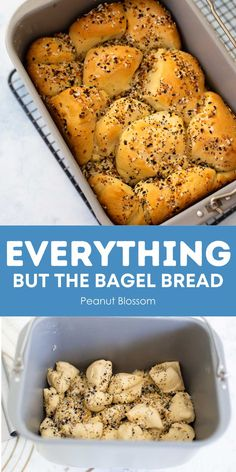 This delicious pull apart bread is layered with melted butter and everything bagel seasoning and baked right in your bread machine. Let it cool and it is a sliceable loaf of bread, serve it warm as a pull apart bubble bread perfect for dunking in soup for dinner.