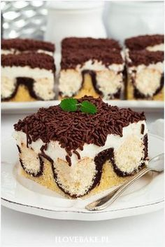 Zdjęcie: Ciasto poranna rosa Sweet Desserts, No Bake Desserts, Delicious Desserts, Dessert Recipes, Yummy Food, Healthy Cake Recipes, Sweet Recipes, Cookie Recipes, Chocolate Ganache Tart
