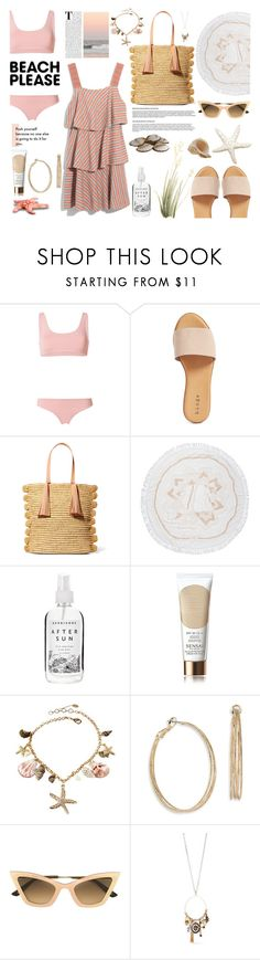 """Senza titolo #7484"" by waikiki24 ❤ liked on Polyvore featuring Danielle Guizio, Hinge, Loeffler Randall, The Beach People, Sensai, Amrita Singh, ABS by Allen Schwartz, Christian Roth, True Craft and BeachPlease"