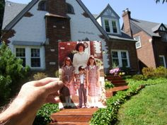 I need to try this!  Bringing the past and present together through photos.