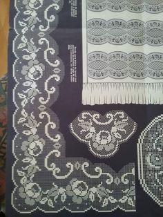 Alıntıdır Filet Crochet Charts, Crochet Borders, Crochet Lace, Rope Crafts, Diy And Crafts, Filets, Knitting Yarn, Hgtv, Handicraft