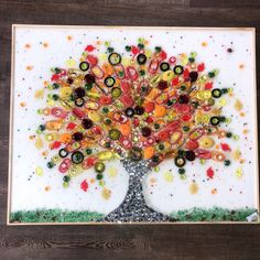 Fall Tree of Life glass art resin art recycled glass   Etsy Broken Glass Crafts, Broken Glass Art, Sea Glass Art, Glass Wall Art, Glass Artwork, Mosaic Glass, Stained Glass, Glass Fusing Projects, Recycled Glass Bottles
