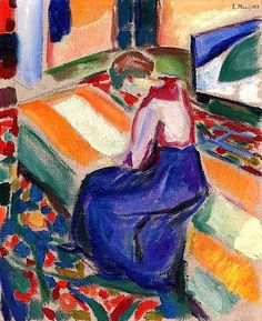 Edvard Munch (Norwegian, 1863-1944), Woman Seated on a Couch, 1919