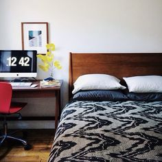 dabito's mid century modern bed | west elm