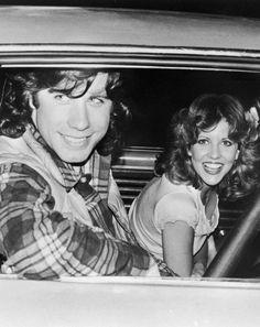 """John Travolta y Nancy Allen en """"Carrie"""", 1976"""