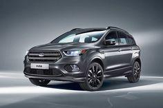 """Trapezgrill, """"SYNC 3""""-Infotainment und ein neuer Diesel mit 120 PS: So kommt Anfang 2017 der geliftete Ford Kuga!"""