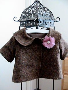 Brown Tweed Short Sleeved Jacket, via Etsy.