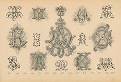 Schriftarten und  Zierschriften pm 1890  monogramme c