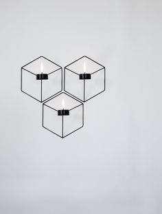 POV Candleholder Wall, Black Design by Note Design Studio