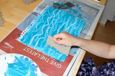 Holly's Arts and Crafts Corner: Eric Carle-Inspired Art. Water for sea turtle art Preschool Art, Preschool Activities, Water Activities, Preschool Classroom, Learning Activities, Classroom Ideas, Sea Turtle Art, Sea Turtles, Kindergarten Art Projects